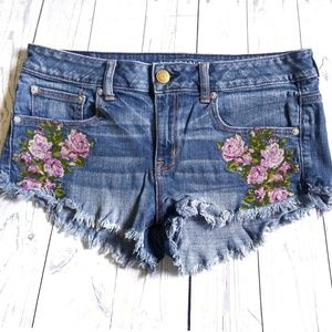 American Eagle Outfitters Embroidered Shorts